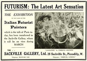 Robert René Meyer-Sée - Advertising for the Sackville Gallery Futurist exhibition, 1912