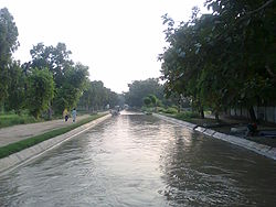 Safdarabad Canal at the entrance of Safdarabad City