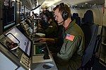 Sailors rehearse operations aboard a P-8A Poseidon maritime patrol aircraft in a training mission. (31017480796).jpg