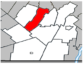 Location within Les Jardins-de-Napierville Regional County Municipality.