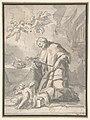 Saint John Nepomucen Venerating a Crucifix MET DP809425.jpg