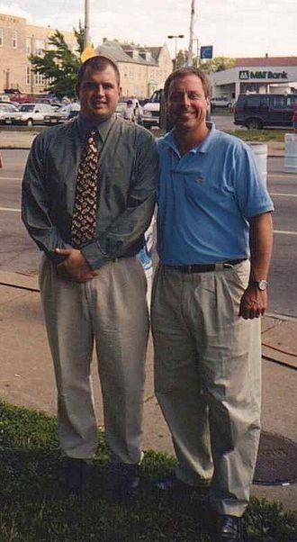 Sam Hoyt - Sam Hoyt with Constituent, Buffalo, NY, 2000