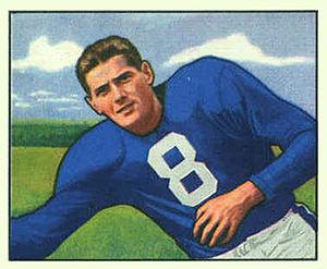 Sam Tamburo - Tamburo on a 1950 Bowman football card