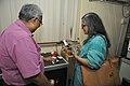 Samarendra Kumar Demonstrating 3D Print To Shefali Shah - NCSM HQ - Kolkata 2017-12-14 6455.JPG