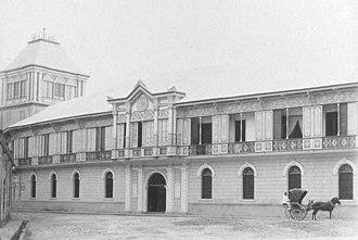 Colegio de San Juan de Letran - Main Entrance (ca. 1880).