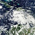 Sandy as a tropical disturbance Oct 20 2012.jpg