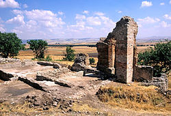 Ruins of an ancient Roman villa