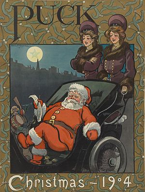 English: Santa Claus as illustrated in , v. 56...