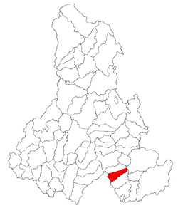 Location of Sântimbru, Harghita