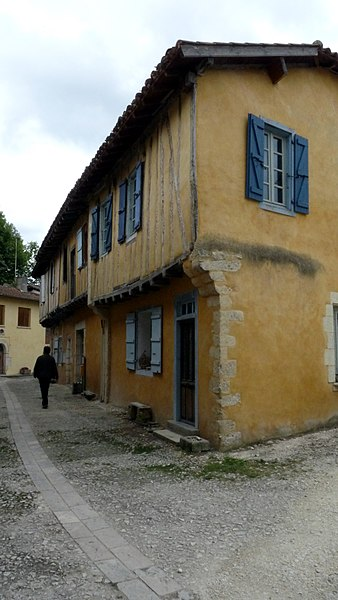A street in the village of Sarrant (France)