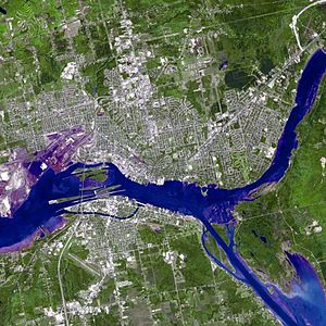 Sault Ste. Marie satellite image acquired June...