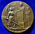 Schiller's 150th Birthday, Art Nouveau uniface Bronze-Medal 1909 by Dietrich.jpg