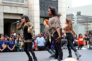 Forever (group) - School Gyrls performing in 2011 at Paramount Studios.