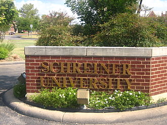 Schreiner University - Schreiner University entrance sign
