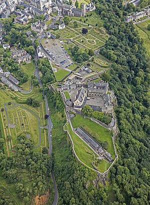 Stirling Castle - Image: Scotland 2016 Aerial Stirling Stirling Castle