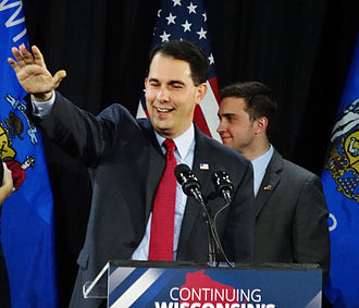 Scott Walker (politician) - Walker after winning re-election as governor of Wisconsin in 2014