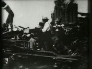 File:Searching for bodies, Galveston 1900.ogv