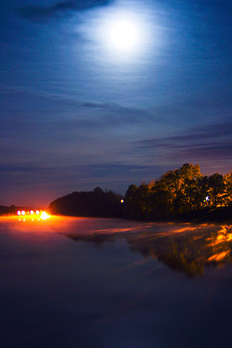 Sebasticook River - Image: Sebasticook River and Full Moon; Benton, Maine