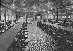 Second class dining room on RMS Olympic.jpg