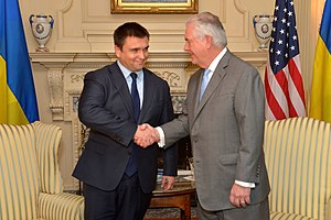 Pavlo Klimkin - Klimkin with U.S. Secretary of State Rex Tillerson, 7 March 2017