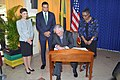 Secretary Tillerson Signs Jamaican Prime Minister Holness' Guestbook in Kingston (28360041169).jpg
