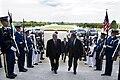 Secretary of Defense Leon E. Panetta, right, escorts Hungarian Minister of Defense Csaba Hende through an honor cordon and into the Pentagon on Sept 120914-D-BW835-055.jpg