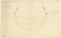 Section abaft the Mizzen Mast to illustrate the method of fixing trusses to the hold and orlop deck on a two decker warship (no date) RMG J0435.png