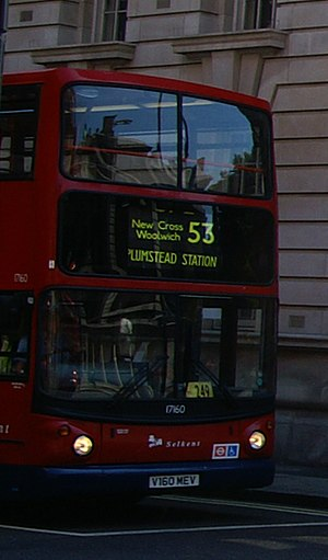 London Buses route 53 - Stagecoach London Alexander ALX400 bodied Dennis Trident 2 on Whitehall in August 2007