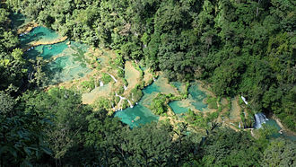 Semuc Champey - pools in the Cahabòn River