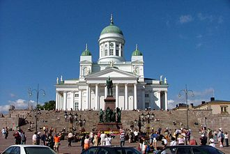 Carl Ludvig Engel - Image: Senate Square and Lutheran Cathedral in Helsinki