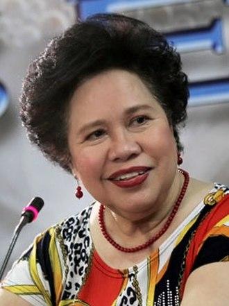 Miriam Defensor Santiago - Image: Senator Miriam Defensor Santiago (cropped)
