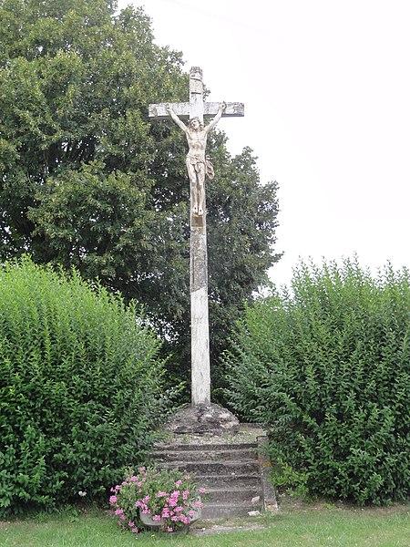 Sequehart (Aisne) croix de chemin
