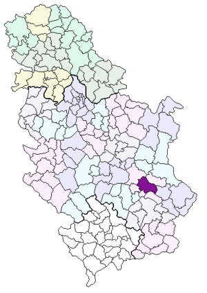 Naissi municipii collocatio in Serbia