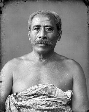 Apia - A high chief of Apia, Seumanutafa Pogai, circa 1890–1910.