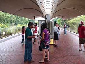 Shady Grove station - The Shady Grove WMATA station in July 2009.