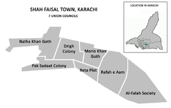 Union councils of Shah Faisal Town
