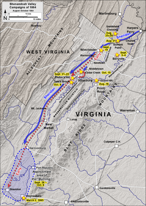 Valley Campaigns of 1864 - Image: Shenandoah Valley August October 1864