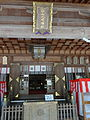 Shirayamahime-境内-向拝の社号額・外拝殿.JPG