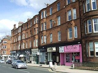 Muirend district in Glasgow City, Scotland, UK