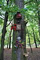 Shrine at the tree in Park Słowackiego in Łódź.jpg