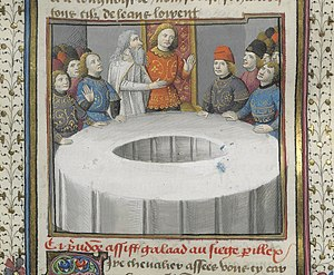 "Round Table - Sir Galahad takes the ""Siege Perilous"""