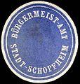 Siegelmarke Bürgermeister - Amt - Stadt - Schopfheim W0234979.jpg