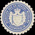 Siegelmarke Direction des Gr. Herzogl. Museums Schwerin W0338040.jpg
