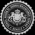 Siegelmarke Fürstl. Reuss. Pl. Forsteinrichtungs Bureau Schleiz W0317336.jpg