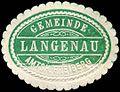 Siegelmarke Gemeinde Langenau - Amtsh. Freiberg W0301531.jpg