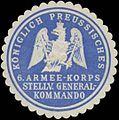 Siegelmarke K. Preussisches 6. Armee-Korps stellv. Generalkommando W0338228.jpg