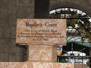 Sign below Magellan's Cross
