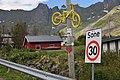 Sign for Arctic Race of Norway 2015 Mefjordvær Senja.jpg
