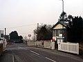 Signal box and level crossing, Caersws.jpg