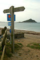 Signpost on the Cornish Coast Path at Long Rock - geograph.org.uk - 522335.jpg